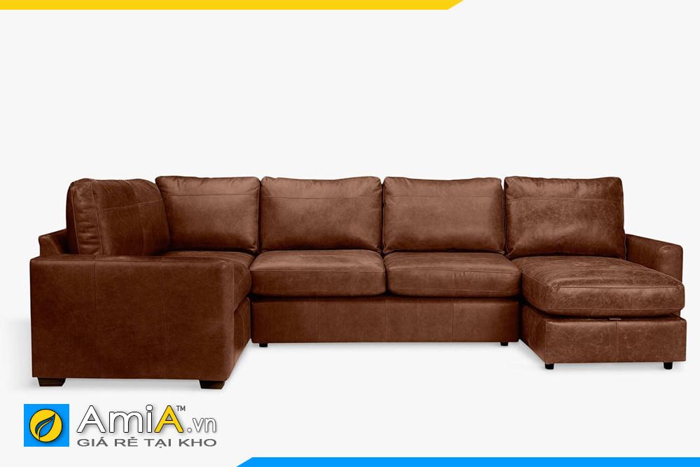 sofa da bò kích thước lớn