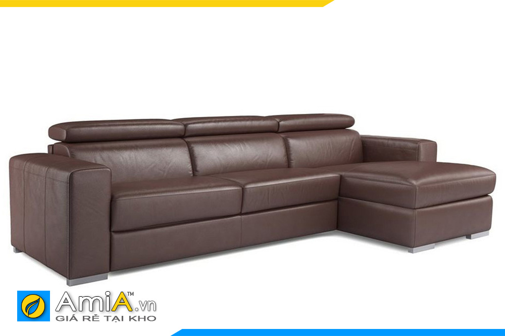ghế sofa góc chữ L màu nâu đất