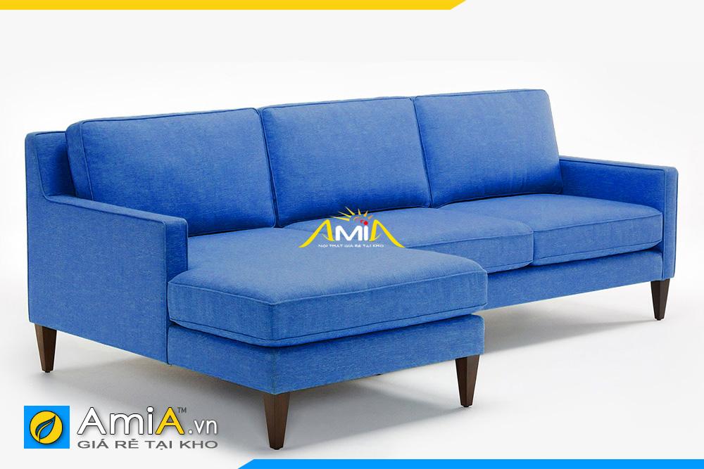 sofa nỉ màu xanh dương AmiA 20193q