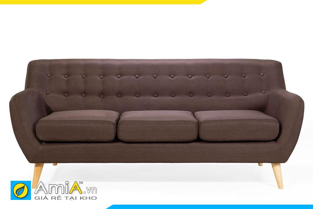 sofa đẹp màu nâu đất dạng văng