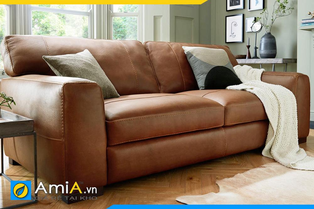 ghế sofa phòng khách màu da bò