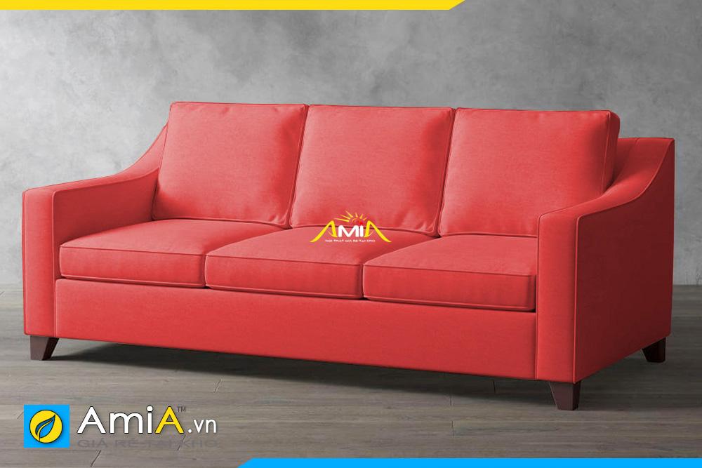 sofa phòng khách nhỏ màu đỏ