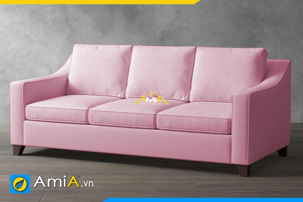 ghế sofa nỉ màu phớt hồng AmiA 20129