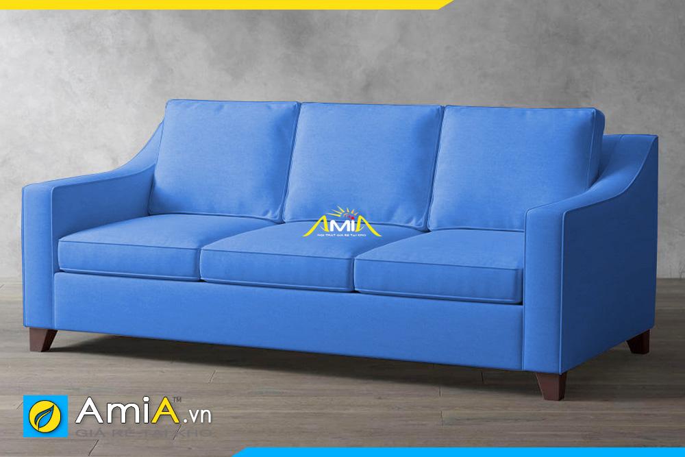 ghế sofa nỉ đẹp màu xanh