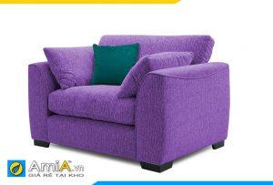 sofa phòng ngủ nữ giới màu tím