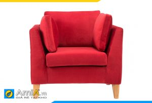 sofa màu đỏ đẹp 1 chỗ ngồi