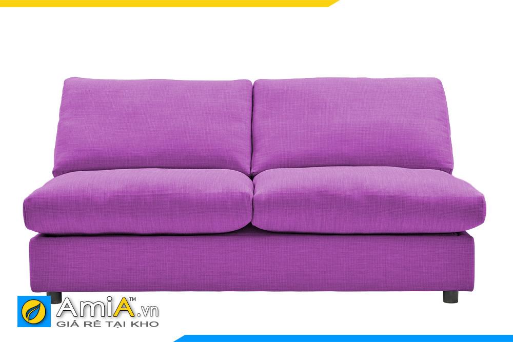 sofa màu tím không tay vịn