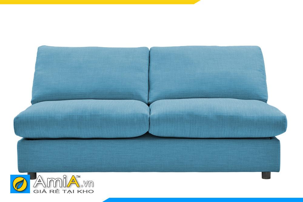 ghế sofa không tay vịn màu xanh