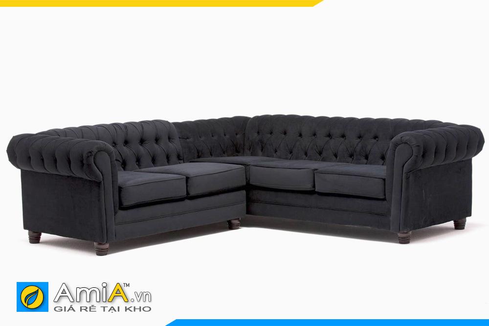 ghế sofa tân cổ điển màu ghi