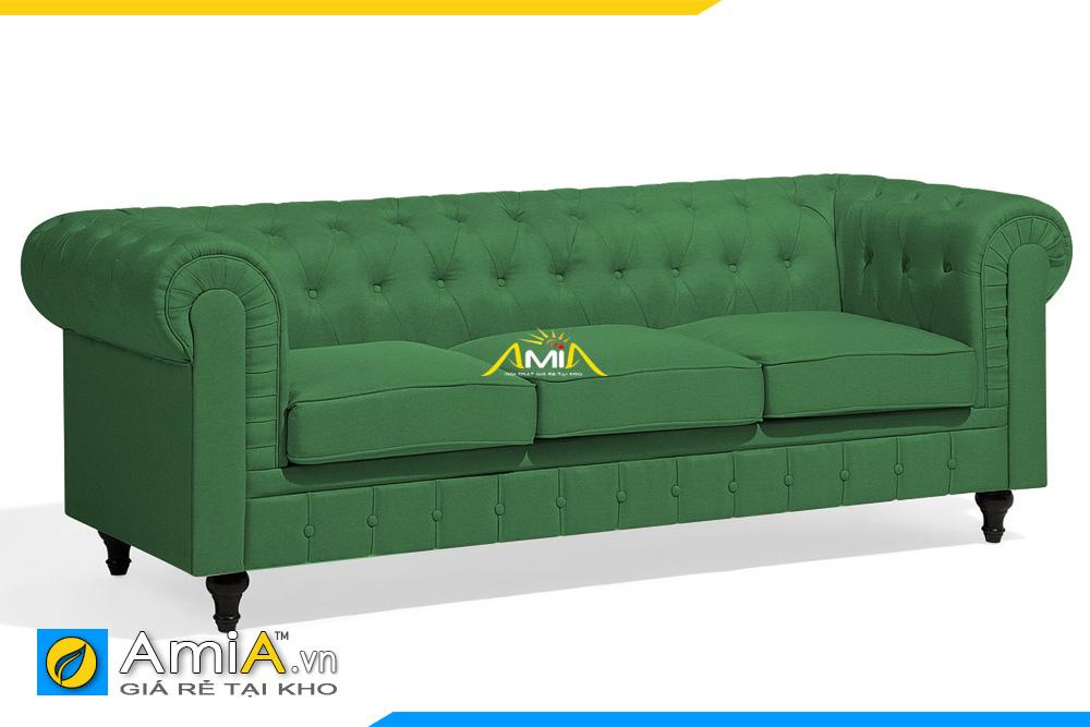 sofa nỉ màu xanh lá cây