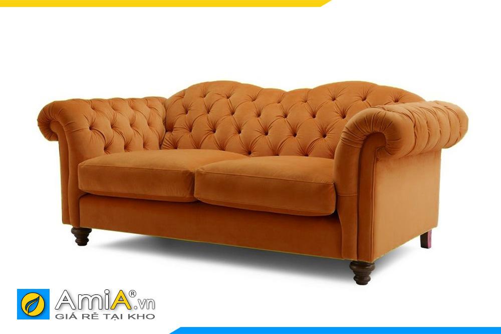 ghế sofa màu cam tân cổ điển