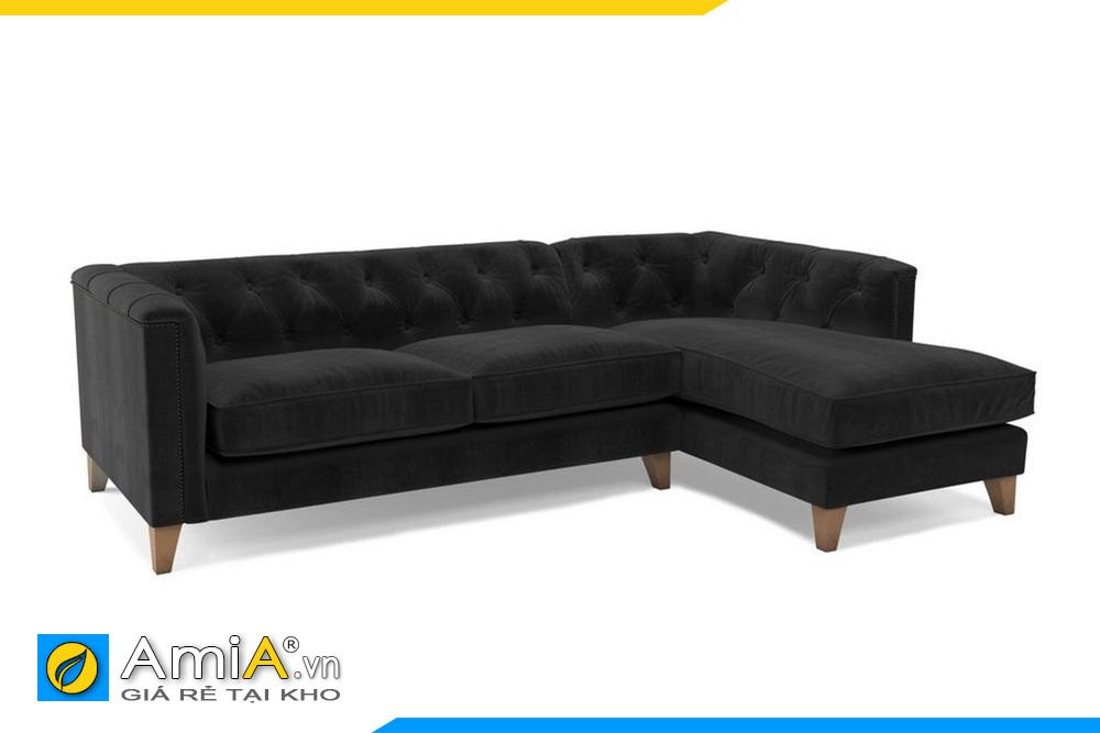 sofa tân cổ điển màu đen