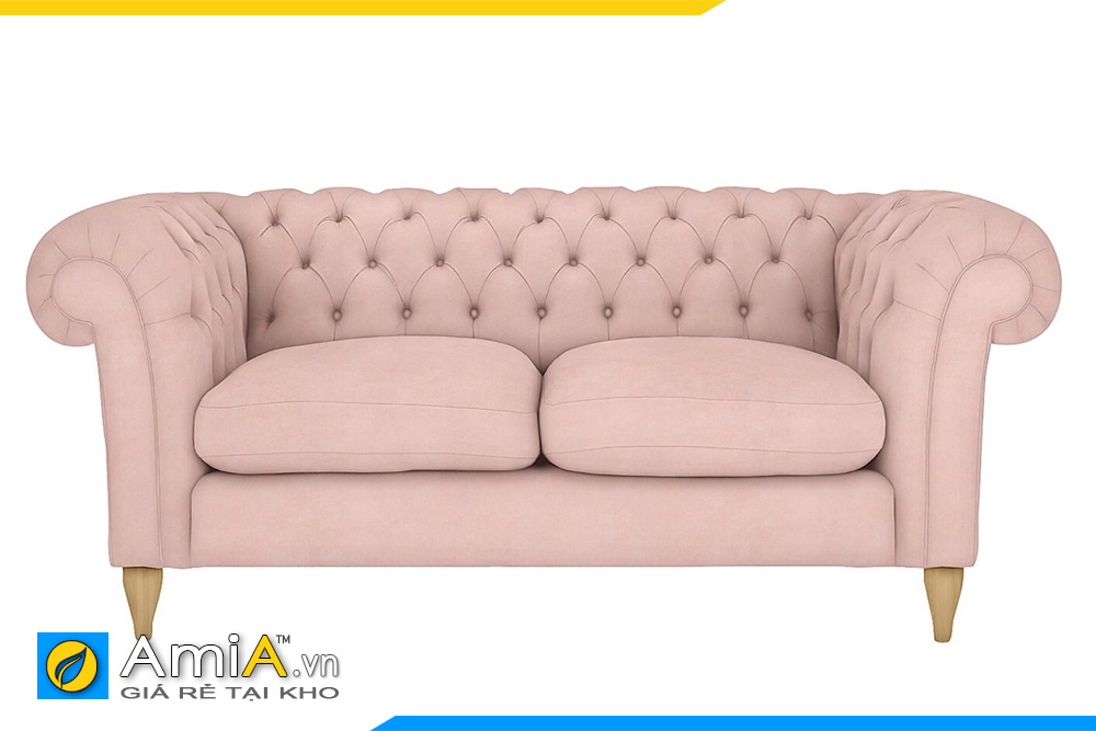 Ghế sofa màu hồng kiểu tân cổ điển