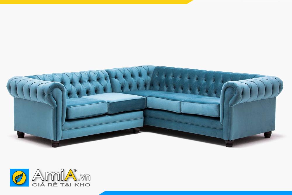 sofa tân cổ điển màu xanh lam