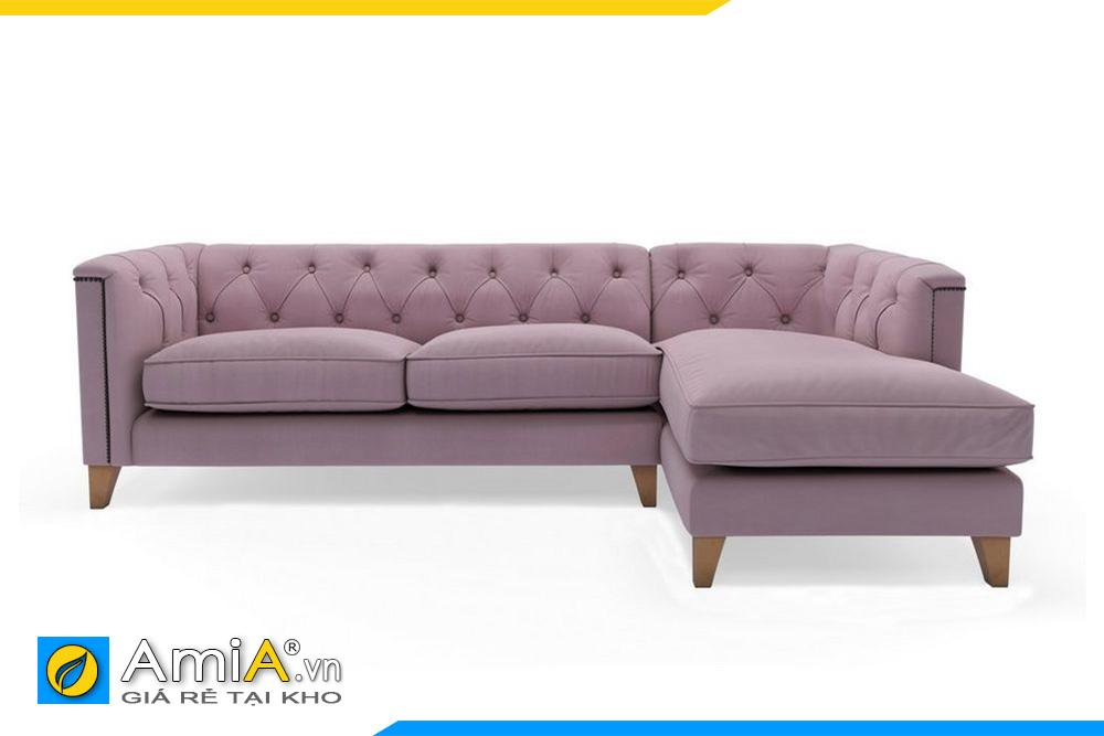 sofa góc đẹp màu tím hồng AmiA 20011