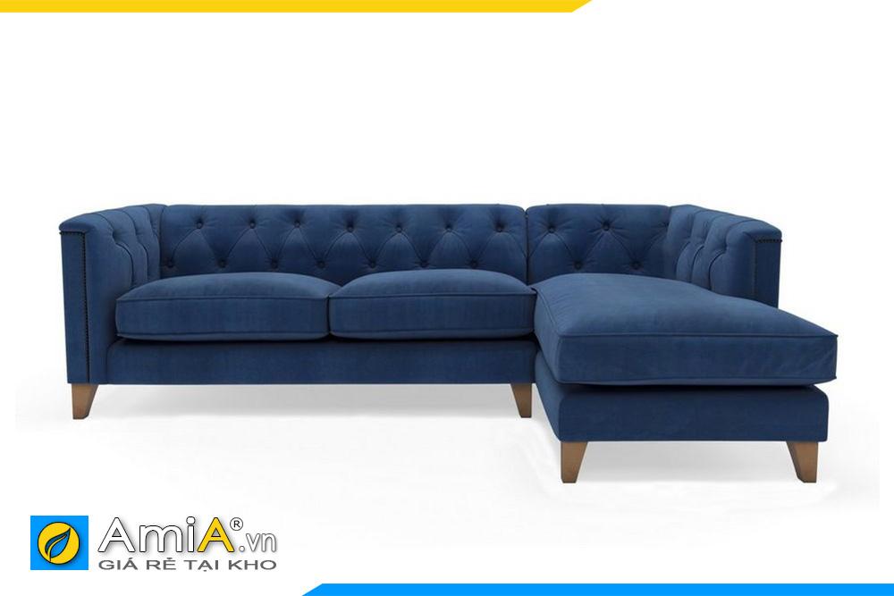 sofa nỉ đẹp màu xanh dương