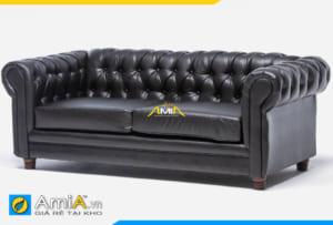 ghế sofa văng da tân cổ điển AmiA 20165