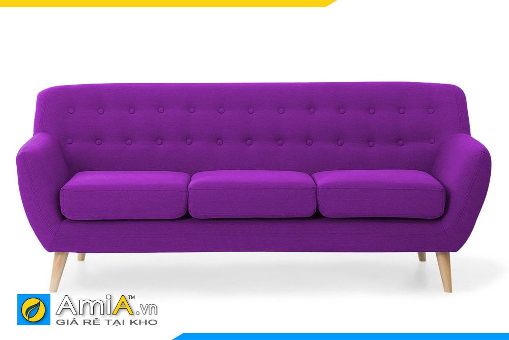 ghế sofa văng nỉ màu tím AmiA 20076