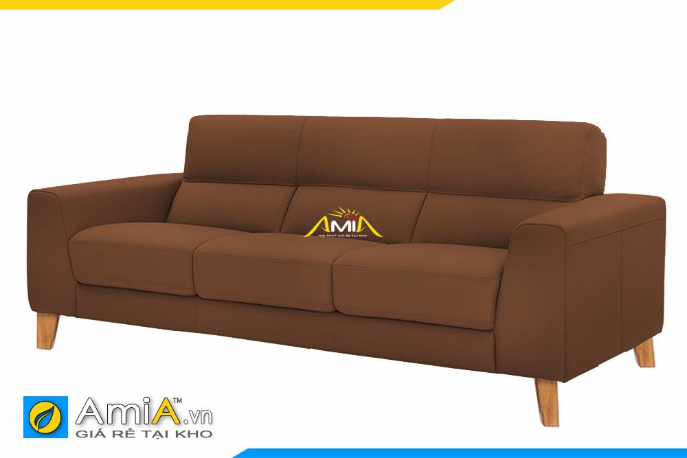 sofa màu nâu đất dạng văng