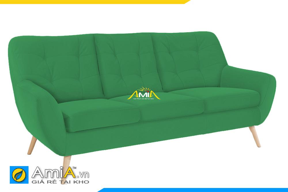 sofa tựa lưng cao màu xanh