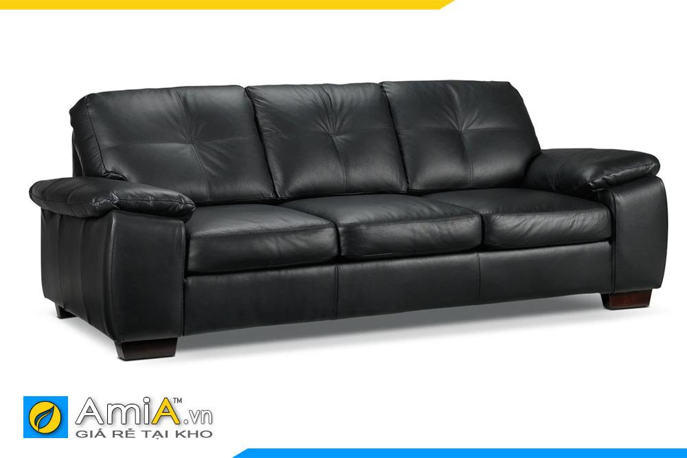 Ghế sofa văng da đẹp màu đen
