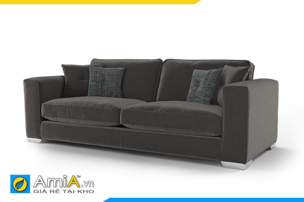 ghế sofa nỉ màu đen