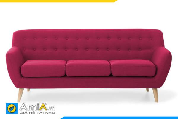 ghế sofa văng nỉ màu đỏ AmiA 20076