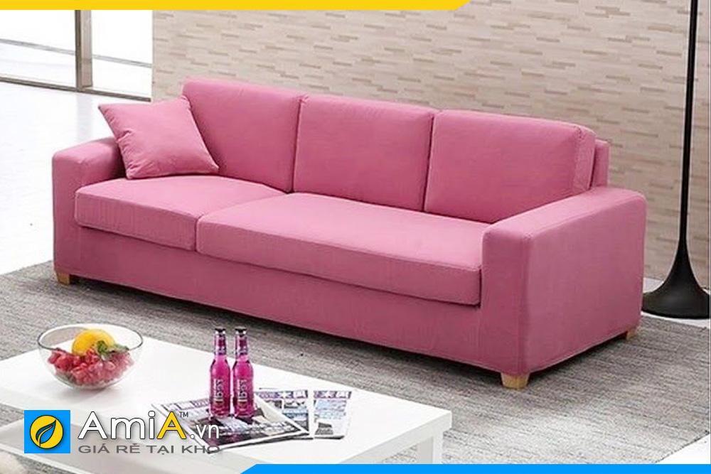 mẫu sofa phòng khách đẹp màu tím hồng