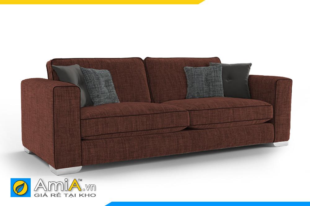 sofa nhỏ 2 chõ màu nâu