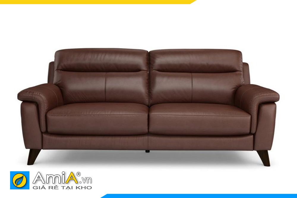 Ghế sofa văng da đẹp màu nâu