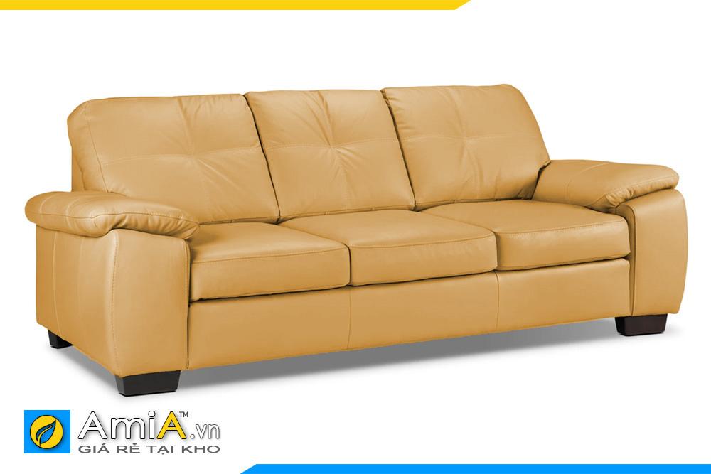Sofa da màu vàng trẻ trung