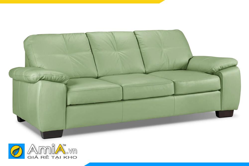 sofa da đẹp màu xanh nõn chuối