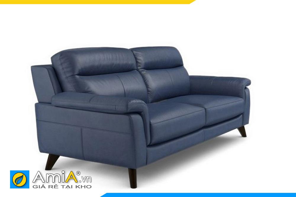 sofa da màu ghi kiểu văng