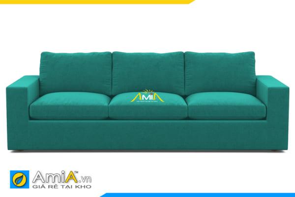 ghế sofa văng nỉ màu xanh làm AmiA 20125