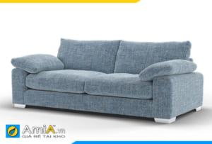 ghế sofa 2 chỗ bọc nỉ ghi xanh