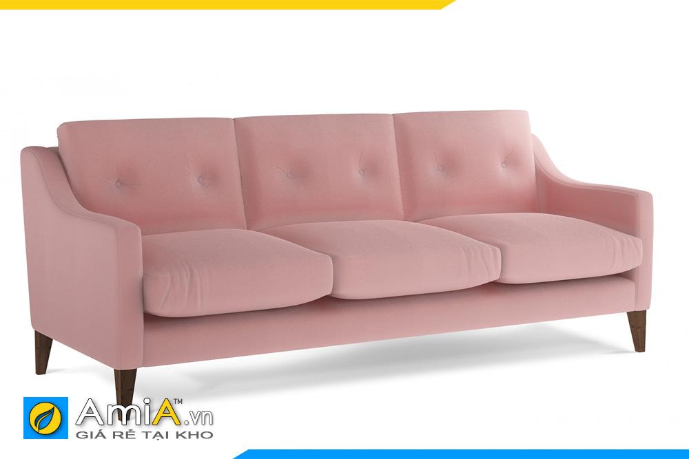 sofa văng nỉ màu hồng AmiA 20096