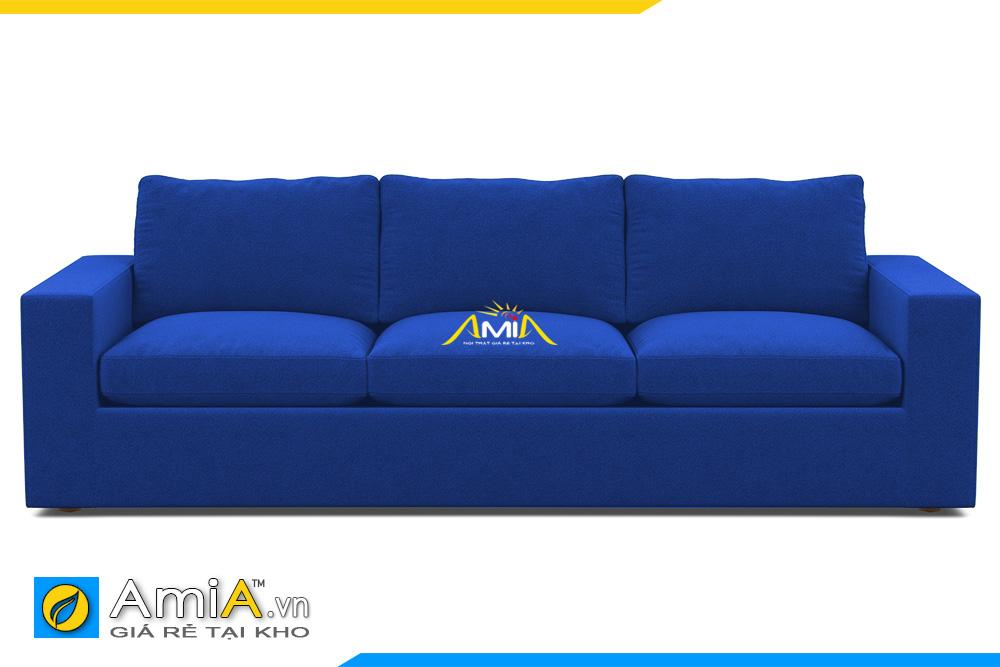 ghế sofa văn nỉ màu xanh dương