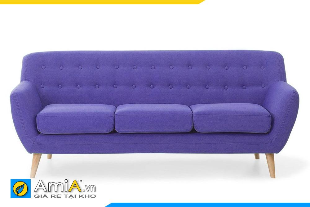 sofa văng nỉ màu tím xanh dương
