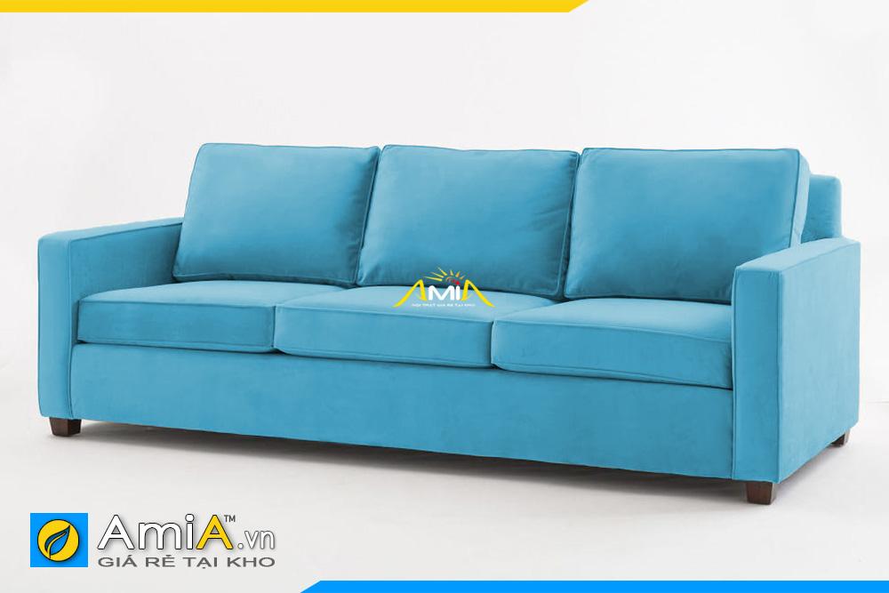 ghế sofa nỉ giá rẻ màu xanh lam