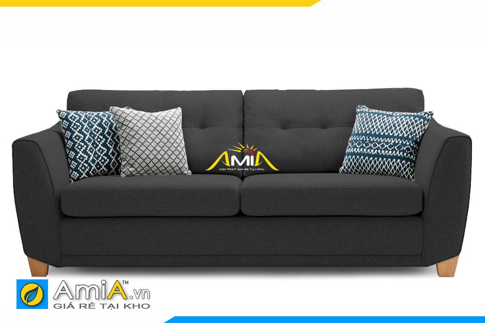 sofa văng nỉ màu ghi sẫm AmiA 20002