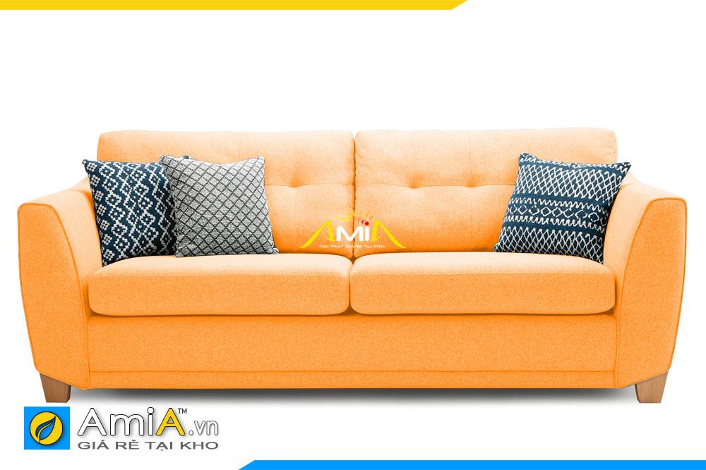 sofa văng nhỏ mini màu vàng