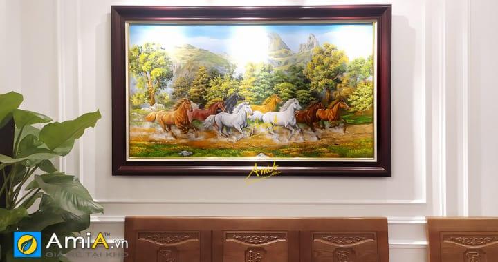 Hình ảnh mẫu tranh Bát Mã đẹp chọn lọc treo phòng khách