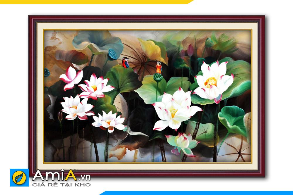tranh khung đẹp in vải canvas
