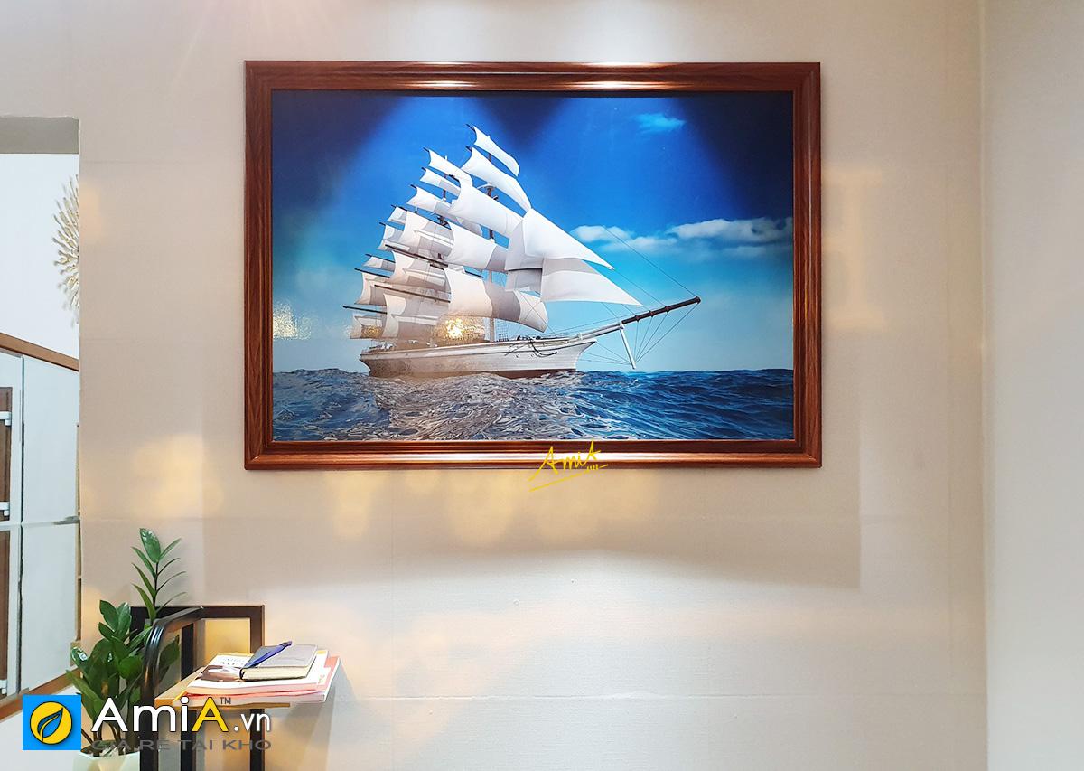 Hình ảnh Bức tranh thuận buồm xuôi gió mẫu nguyên bản thiết kế 1 tấm mã 330