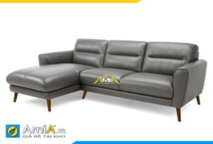 ghế sofa da đẹp kiểu góc chữ L