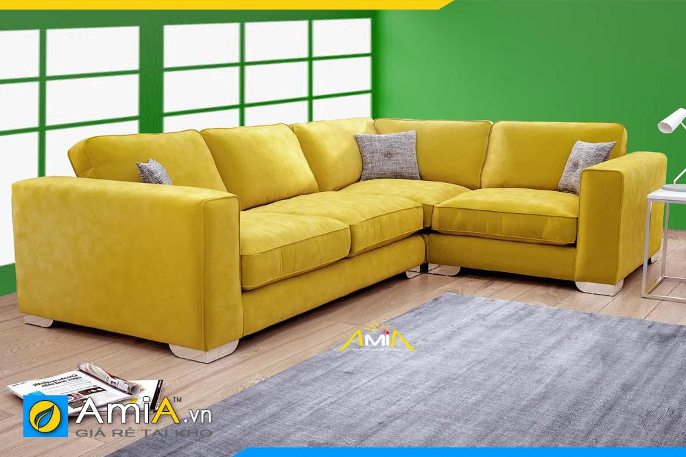 ghế sofa phòng khách màu vàng
