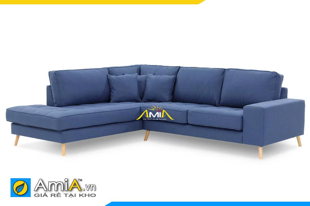 ghế sofa nỉ màu xanh dương đậm