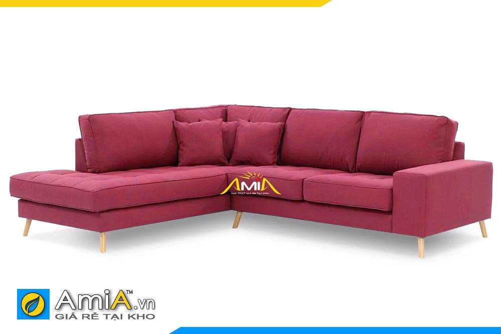 ghế sofa nỉ đẹp màu đỏ kiểu góc