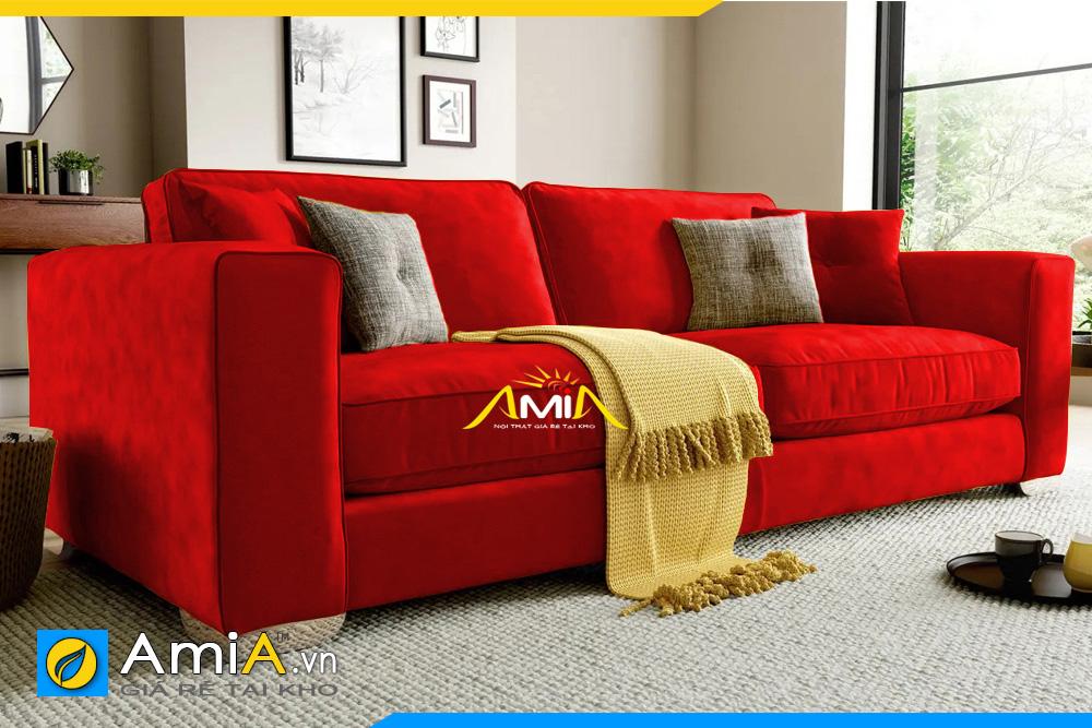 ghế sofa nhỏ xinh màu đỏ