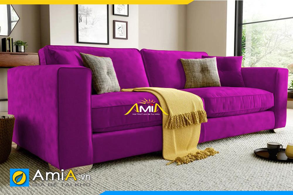 ghế sofa nỉ màu tím kích thước nhỏ